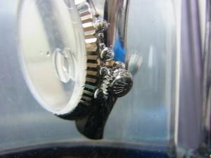 水圧式防水試験 - 防水不良