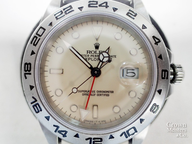 timeless design 7de56 de43d ロレックス エクスプローラーII Ref.16550 オーバーホール 分解 ...