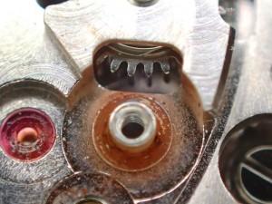 丸穴中間車、及び切替車のポスト部分からサビが発生しておりました